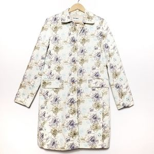 Old Navy | 100% cotton floral trench coat